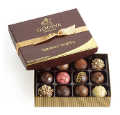 Godiva Chocolatier Assorted Chocolate Truffles Gift Box, Gold Ribbon
