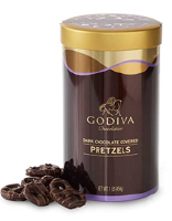 Godiva Chocolatier Dark Chocolate Covered Pretzels Gift Canister