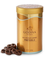 Godiva Chocolatier Assorted Milk Chocolate Covered Pretzels